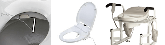 LiftSeat with the optional Brondell Wash Bidet